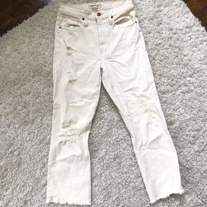 off white made well jeans- mid waisted